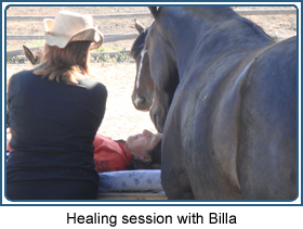 Healing session with Billa