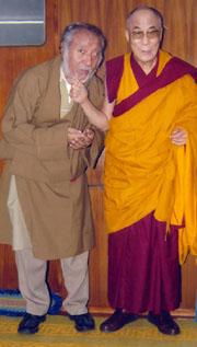 Jurme Wangda with Dalai Lama
