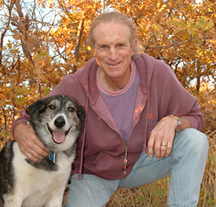 Marc Bekoff, APES Advisory Board with his friend Willie http://www.a-p-e-s.org/gallery_human.html