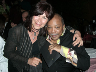 Author, Nancy Mehagian & Quincy Jones